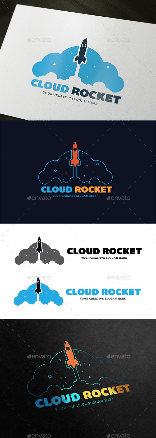 Cloud Rocket - Objects Logo Templates