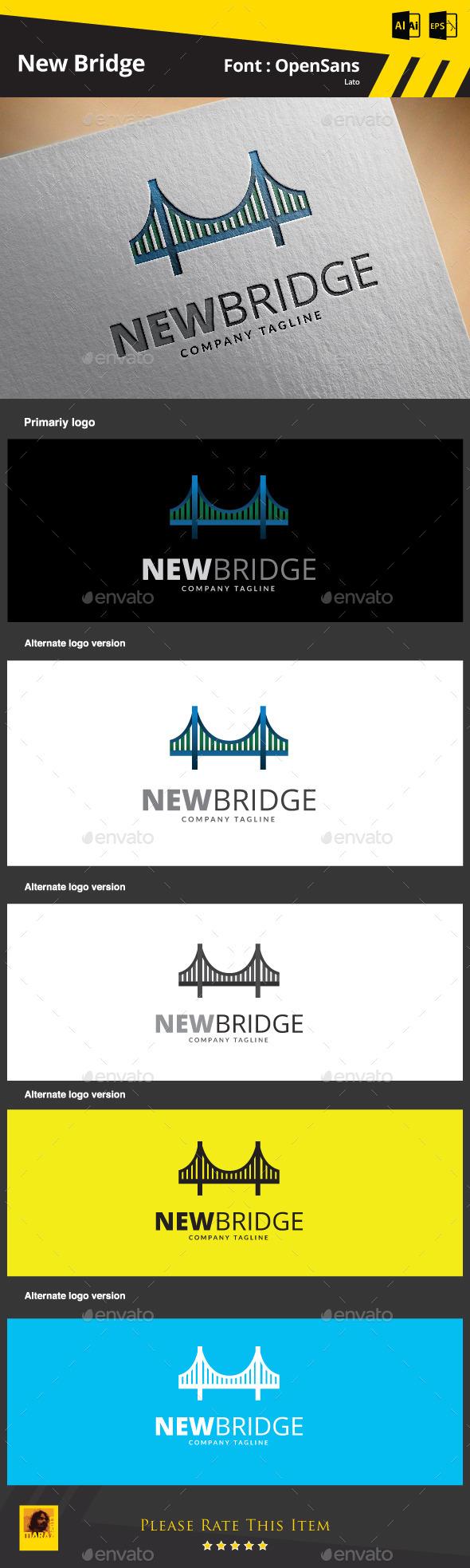 New Bridge Logo Template - Buildings Logo Templates