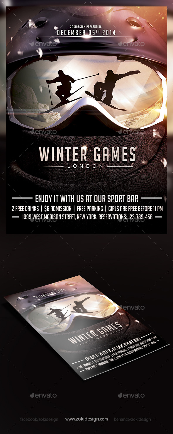Winter Games Flyer - Events Flyers