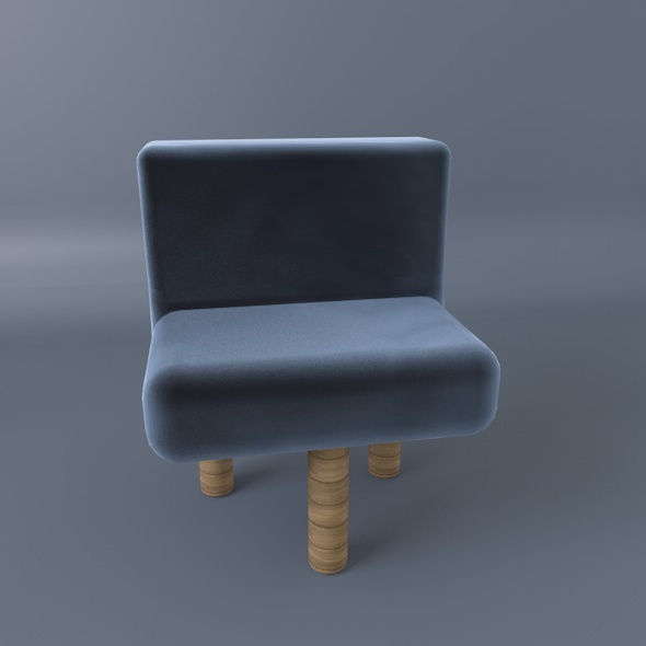 Three Legs Comfy Chair - 3DOcean Item for Sale