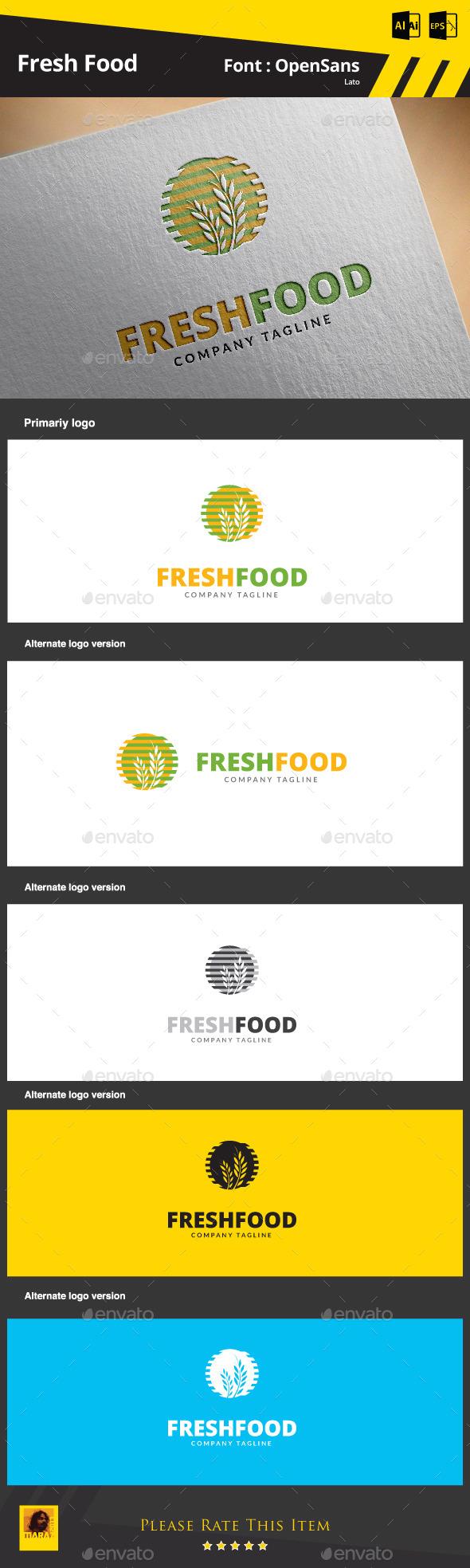 Fresh Food Logo Template - Food Logo Templates