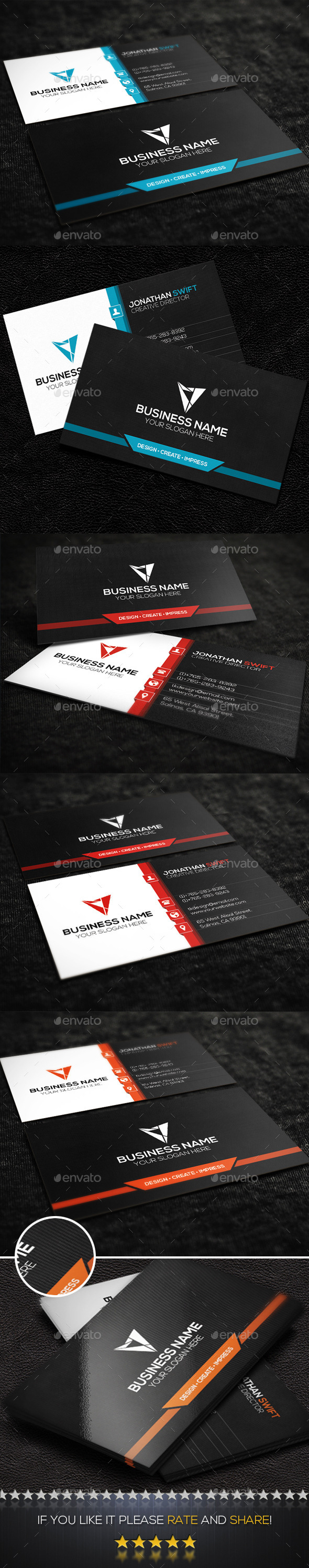 Modern Corporate Business Card No.03 - Corporate Business Cards