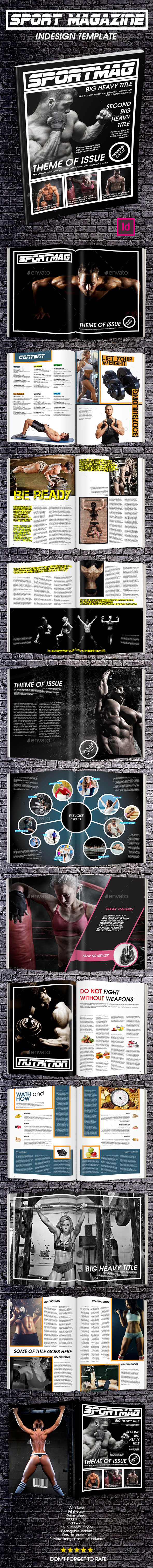 Sport Magazine Template Issue Two - Magazines Print Templates