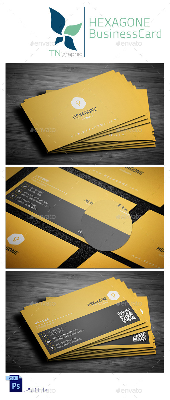 Hexagone - Business Card - Corporate Business Cards