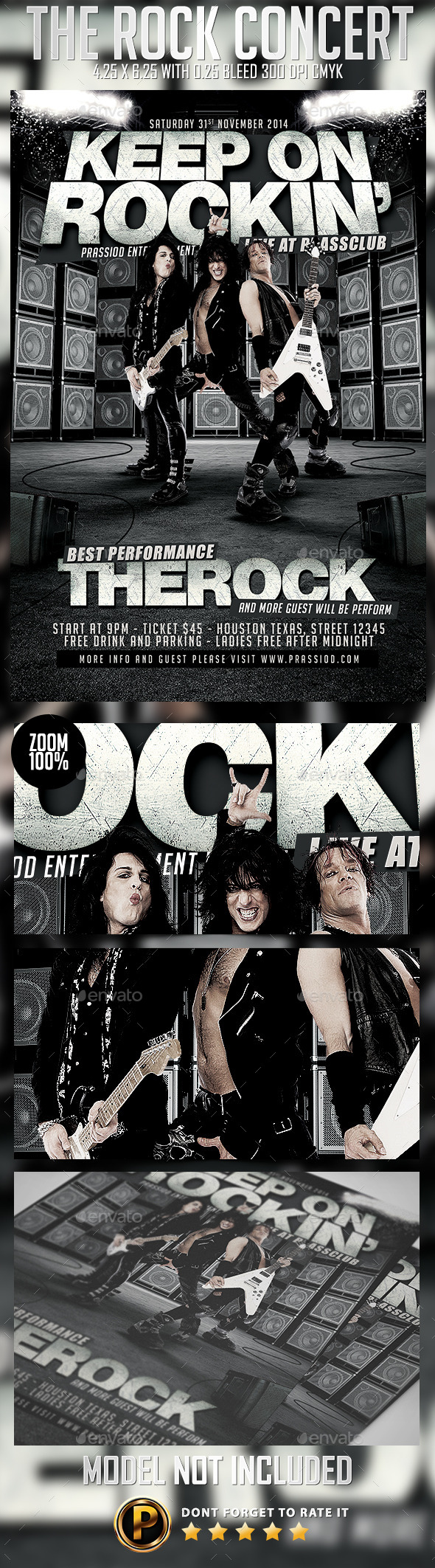 The Rock Concert Flyer Template - Concerts Events