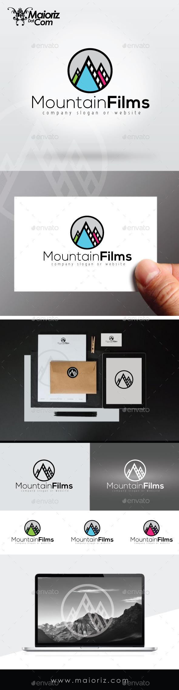 Mountain Films Logo Template - Nature Logo Templates