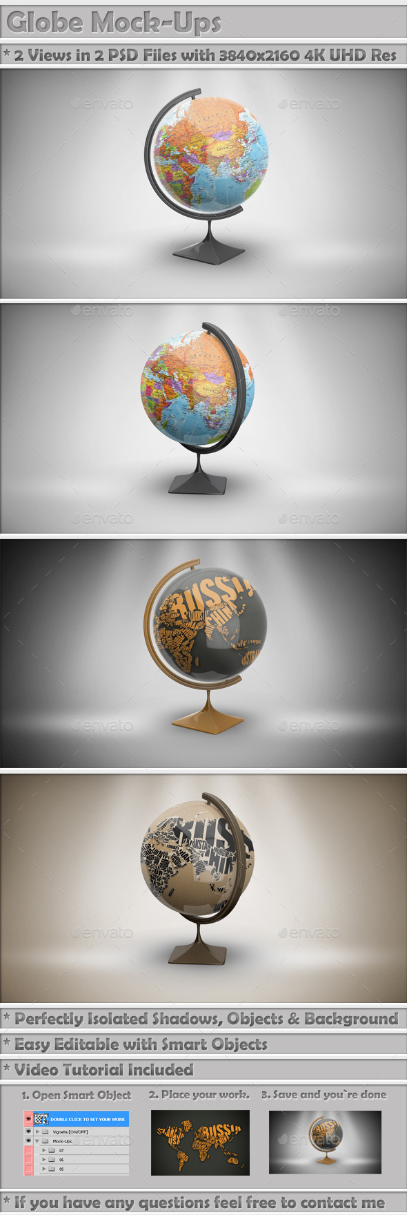 Globe Mock-Up - Miscellaneous Print