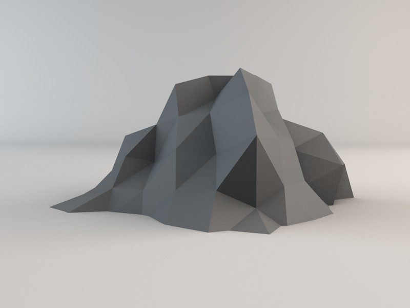 Low Poly Rock Pack 1 By Rockermau 3docean
