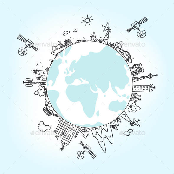 Global Information Network on the Globe - Technology Conceptual