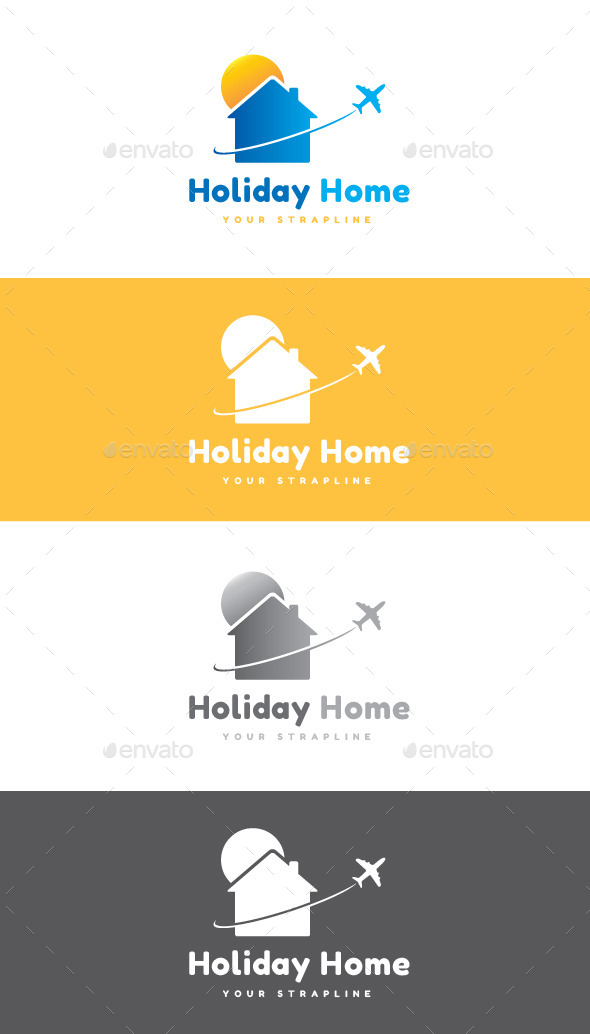 Holiday Home Logo - Symbols Logo Templates