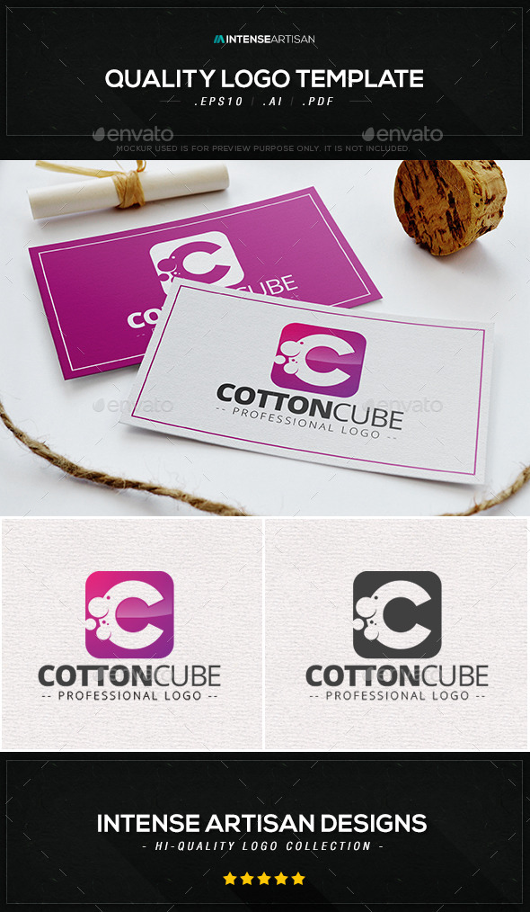Cotton Cube Logo Template - Letters Logo Templates