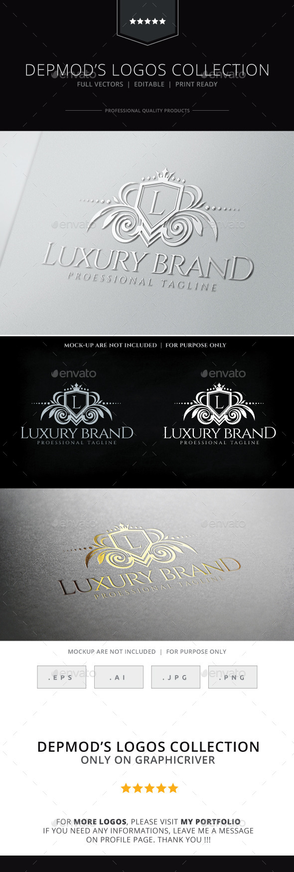 Luxury Brand Logo - Crests Logo Templates
