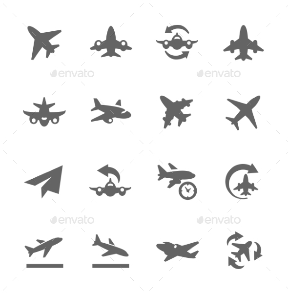 Planes Icons - Man-made objects Objects