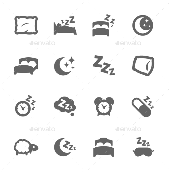 Sleep Well Icons - Miscellaneous Icons