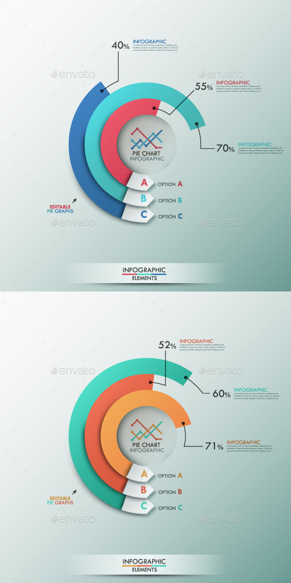 Smart Infographics Template With Pie Chart - Infographics