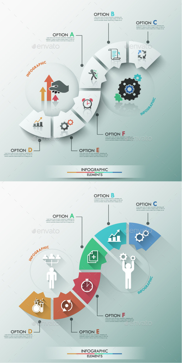 Modern Infographic Process Template (2 Items) - Infographics