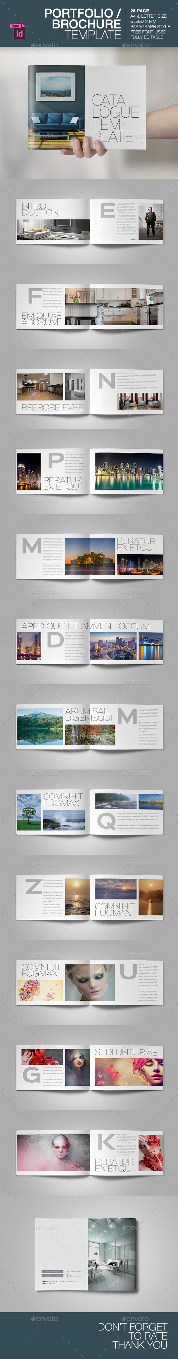 Portfolio / Brochure Template - Brochures Print Templates