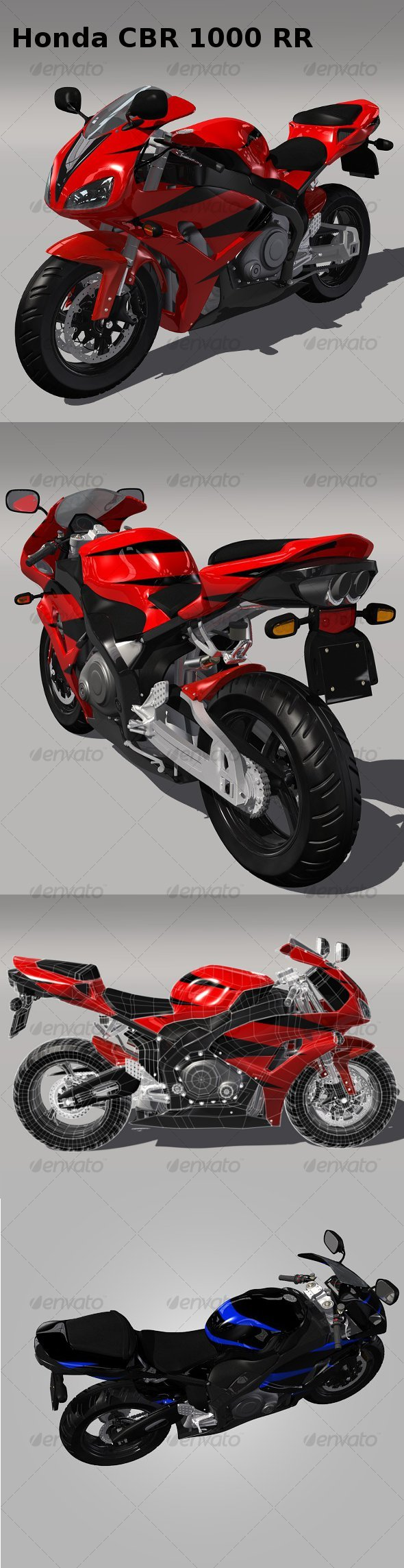 Honda CBR 1000 RR - 3DOcean Item for Sale