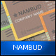 NAMBUD - Business Card Retro Style - GraphicRiver Item for Sale