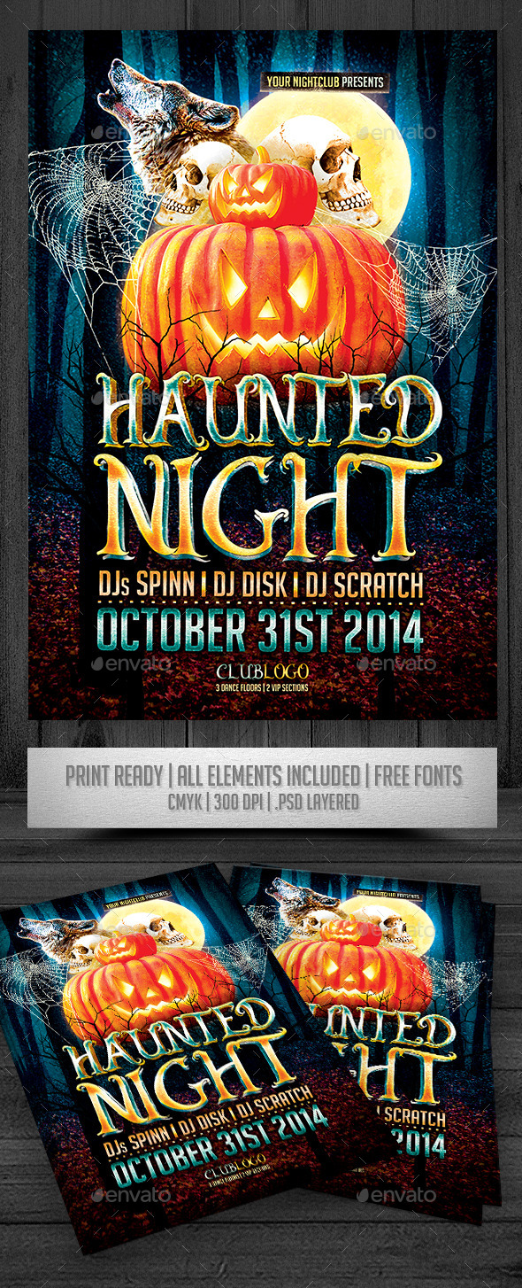 Haunted Nigh Flyer - Events Flyers