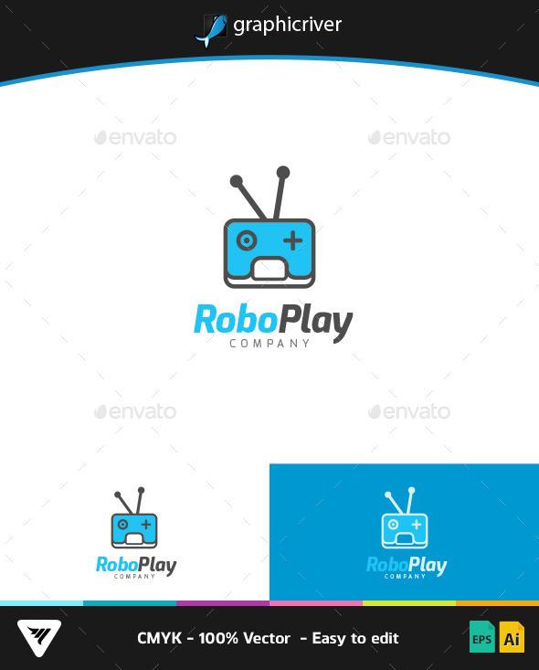 RoboPlay Logo - Logo Templates
