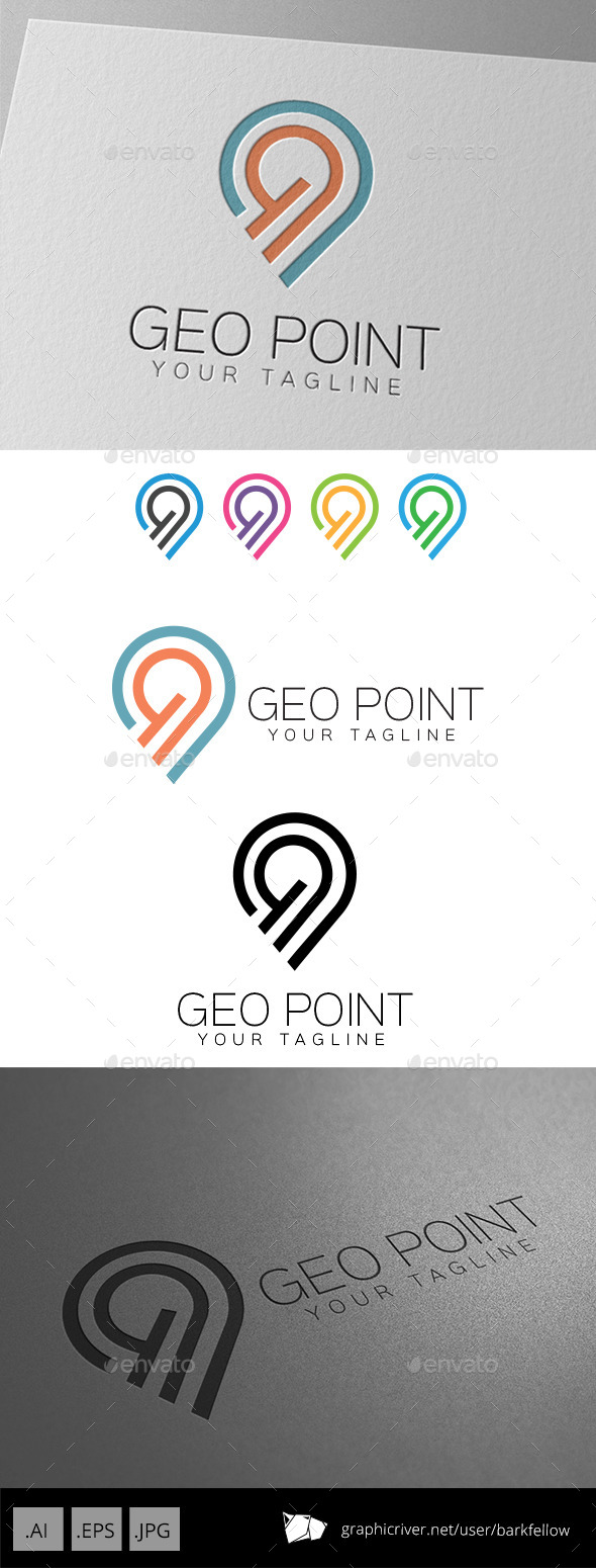 Geo Point Location Logo - Symbols Logo Templates