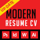 Modern And Profesional Resume Cv - GraphicRiver Item for Sale