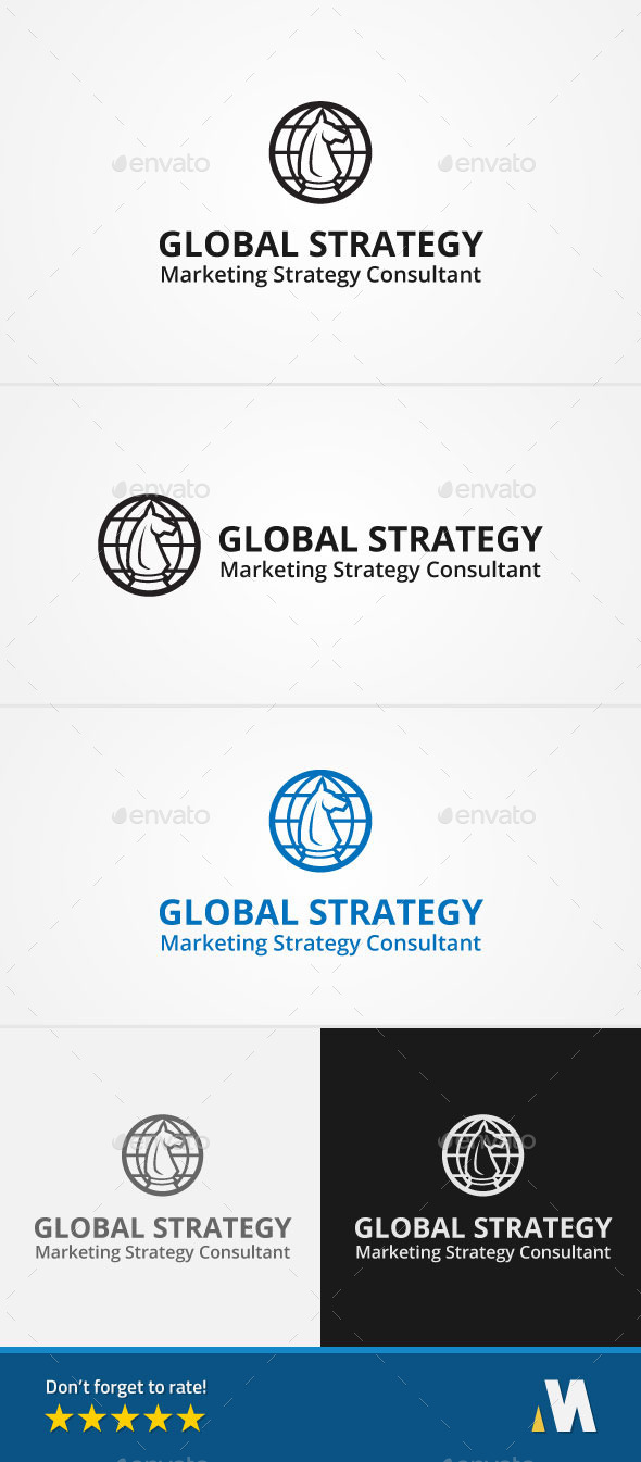 Global Strategy - Symbols Logo Templates