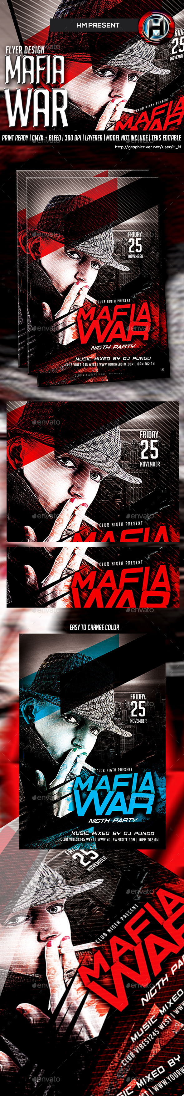 Mafia War Party | Flyer Template - Events Flyers