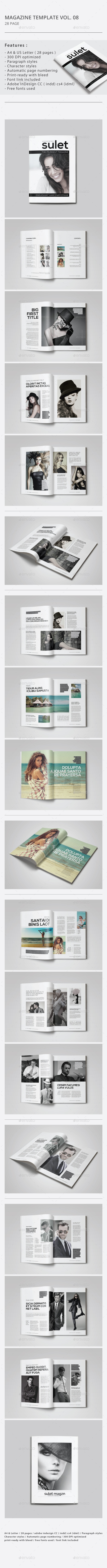 Indesign Magazine Template Vol.08 - Magazines Print Templates