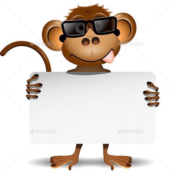 Monkey with Sunglasses - Animals Characters