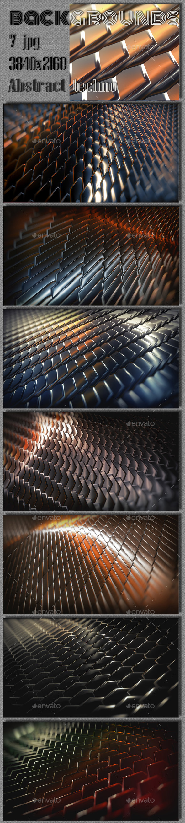 Abstract 3D Steel Collection - 3D Backgrounds