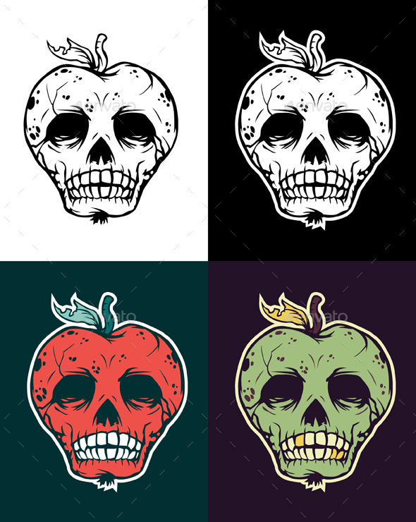Apple Skull - Halloween Seasons/Holidays
