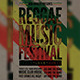 Raggae Music Festival Flyer