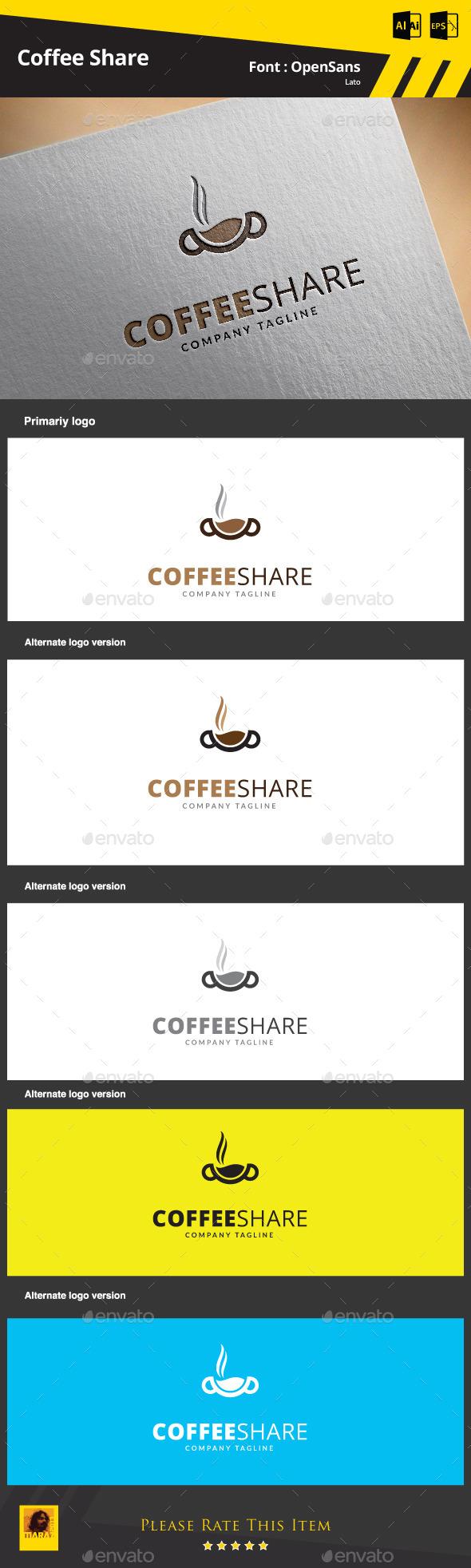 Coffee Share Logo Template - Food Logo Templates
