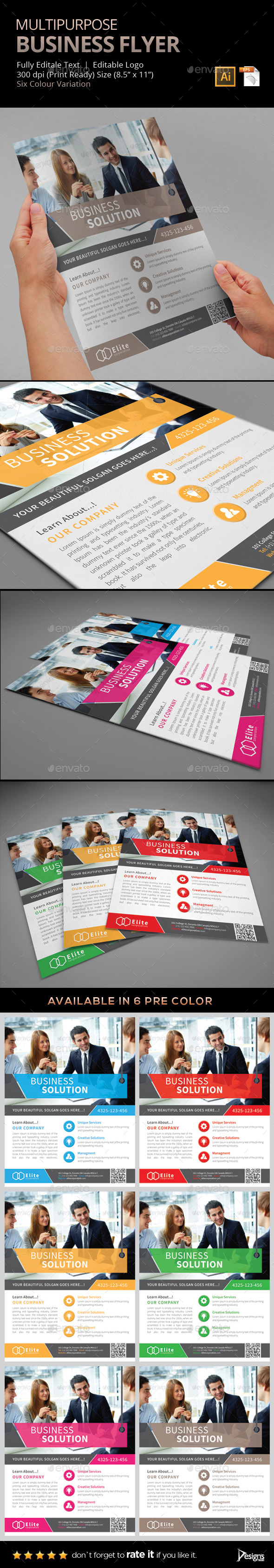Flyer - Multipurpose Business Flyer 7 - Flyers Print Templates
