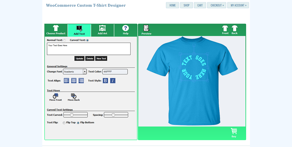 woocommerce custom t shirt designer by wpproducts codecanyon