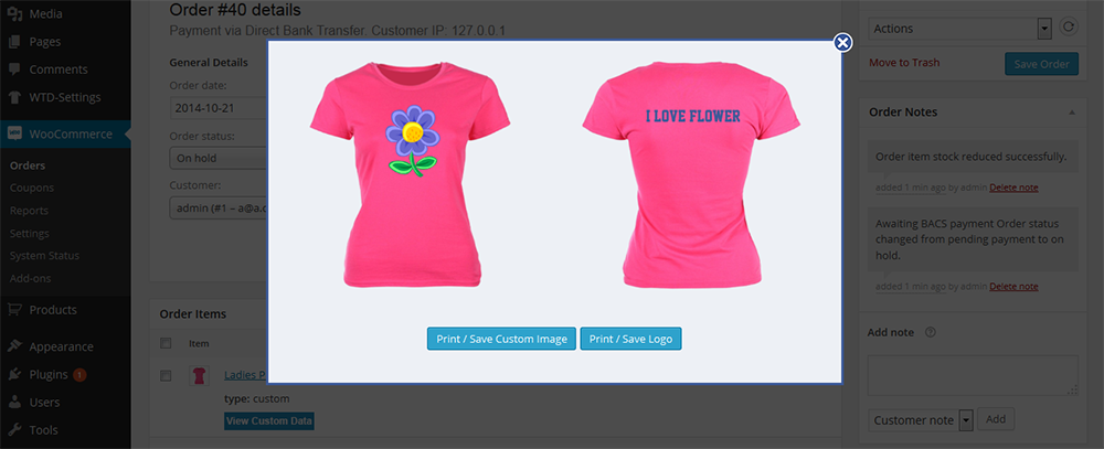 Shirt Designer Plugin
