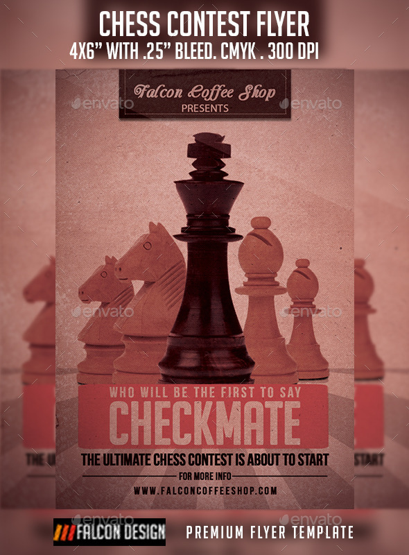 Chess Competition Flyer - Sports Events