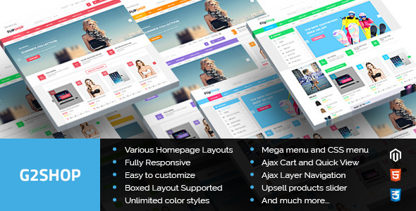 G2shop – Multipurpose Responsive Magento Theme