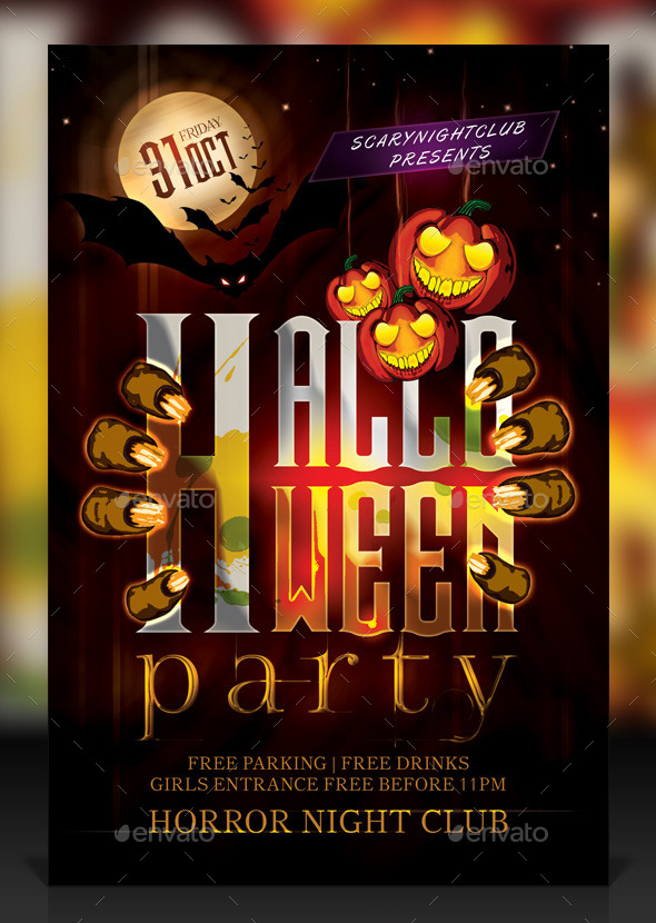 Haunted Halloween Party Flyer - Holidays Events