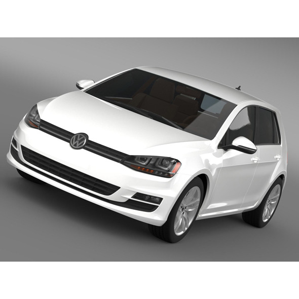 Volkswagen Golf TDI 5d 2015 - 3DOcean Item for Sale