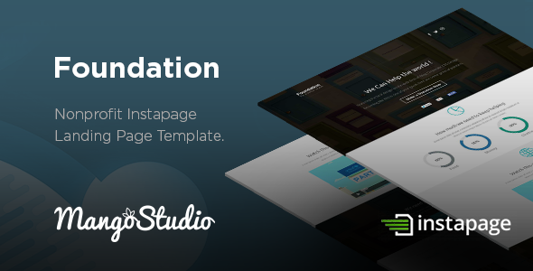 Foundation - Non-Profit Instapage Landing page - Instapage Marketing