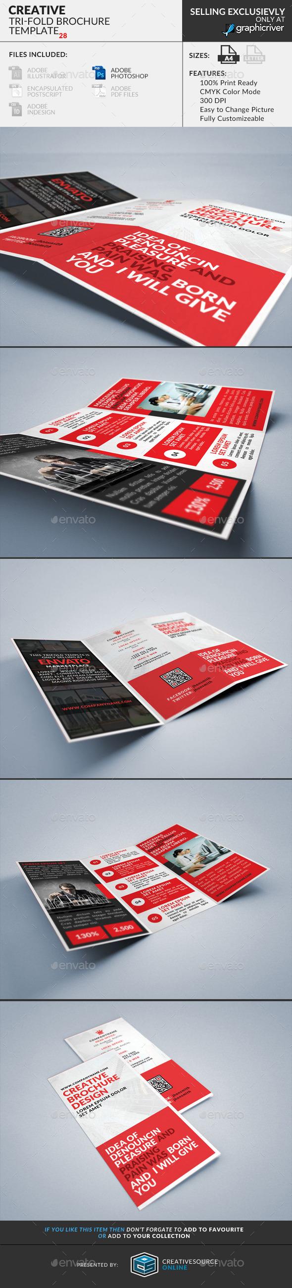 Trifold Brochure 28 : Creative - Corporate Brochures