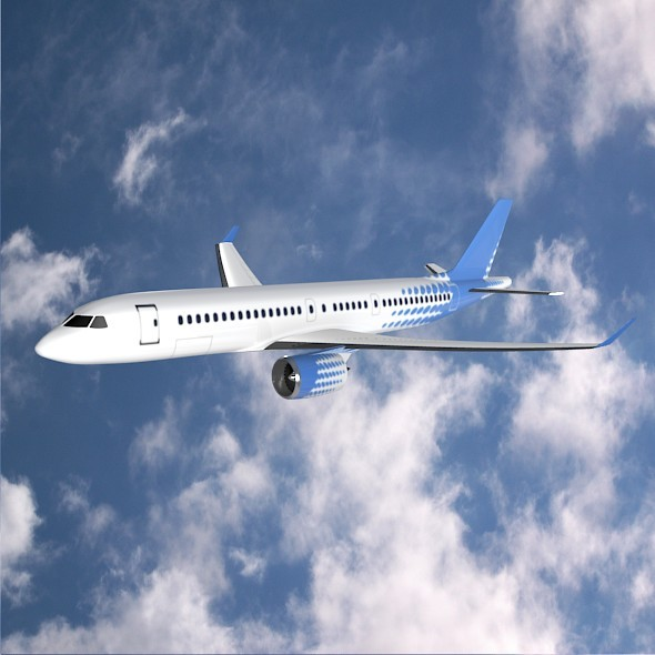 Bombardier cs300 airliner - 3DOcean Item for Sale