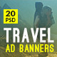 Travel - Vacation Web Ad Marketing Banners Vol 6