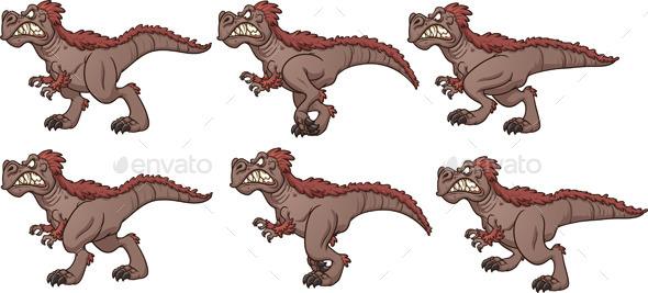 Walking T-Rex - Characters Vectors