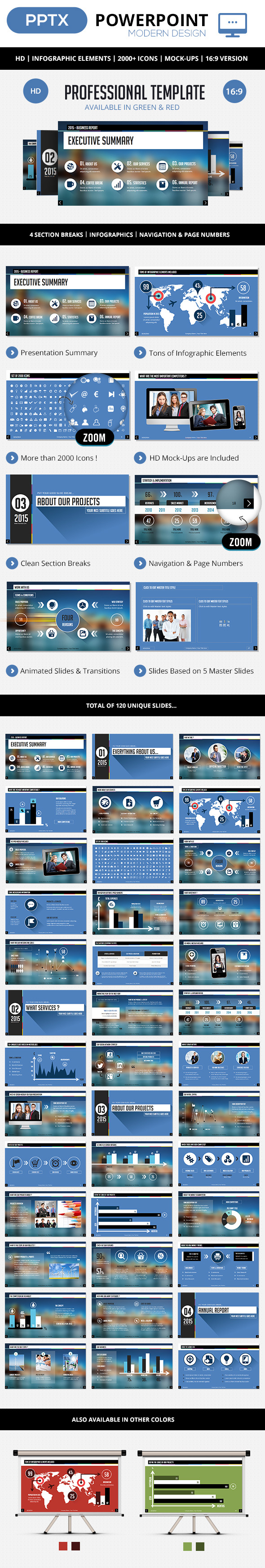 Professional PowerPoint Corporate Template - Business PowerPoint Templates