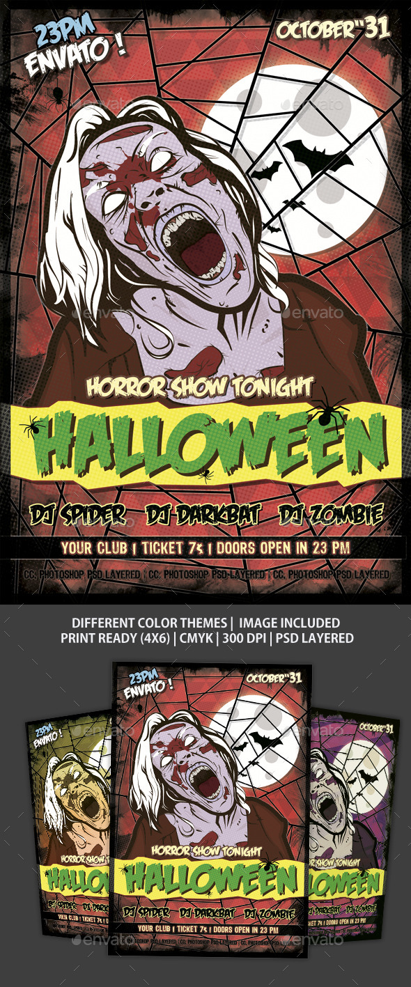 Flyer Halloween - Clubs & Parties Events