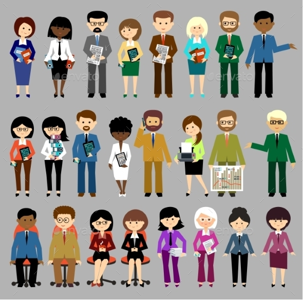 Set of Business People - People Characters